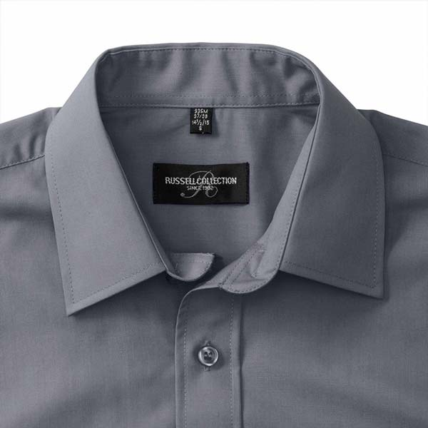 110g 65/35PC Mens Easy Care Poplin Shirt Short-Sleeve - JSHA935-details3