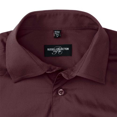 140g Mens Easy-Care Cotton-Stretch Long Sleeve Fitted Shirt - JSHA946-details1
