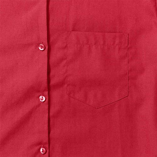 125g Ladies Pure Cotton Easy Care Poplin Shirt Long Sleeve - JSHL936-details1