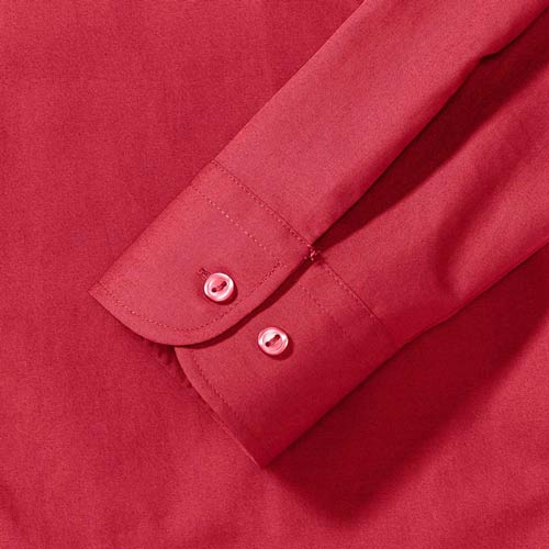 125g Ladies Pure Cotton Easy Care Poplin Shirt Long Sleeve - JSHL936-details2