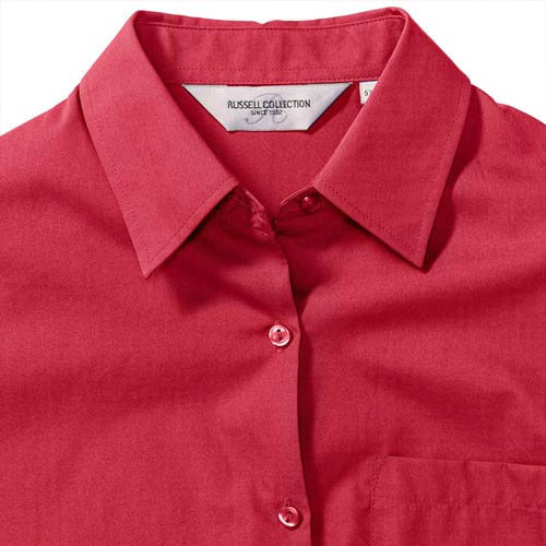 125g Ladies Pure Cotton Easy Care Poplin Shirt Long Sleeve - JSHL936-details3