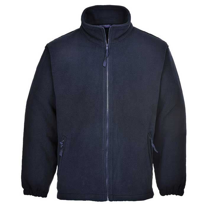 280g 100% Polyester Aran Fleece Jacket - OFA205-Navy