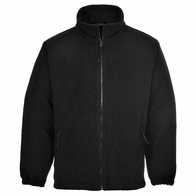 280g 100% Polyester Aran Fleece Jacket - OFA205-black