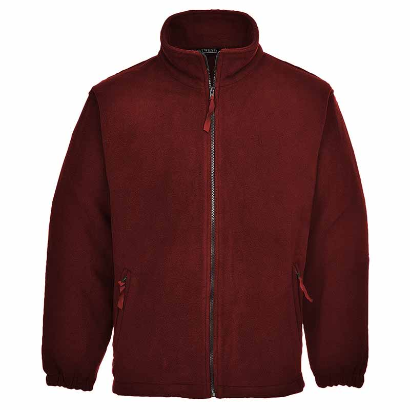 280g 100% Polyester Aran Fleece Jacket - OFA205-red
