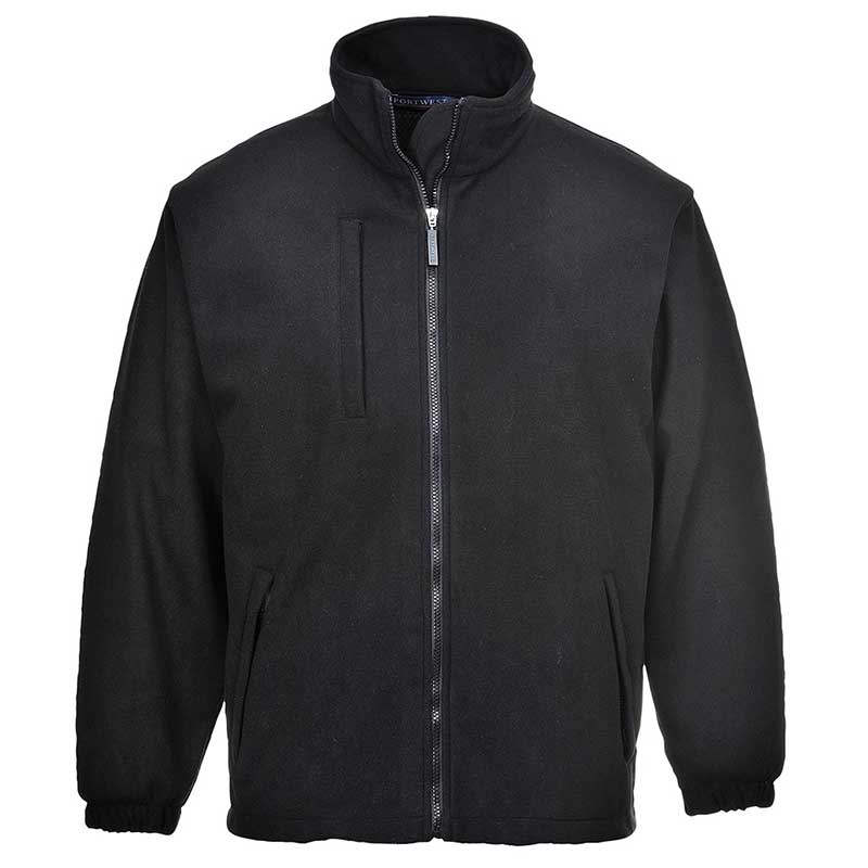 330gsm 100% Polyester Buildtex Laminated Fleece - OJAA330-black