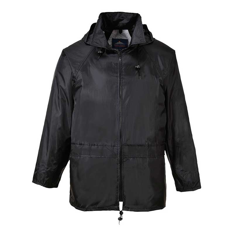 210g 100% Polyester Classic Rain Jacket - OJAA440-black