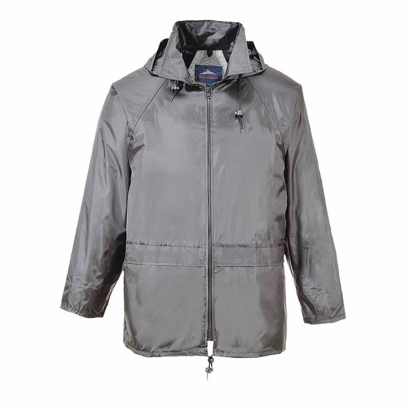 210g 100% Polyester Classic Rain Jacket - OJAA440-grey