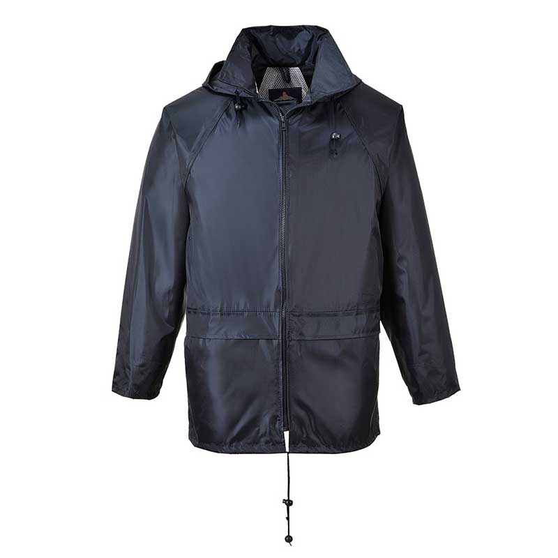 210g 100% Polyester Classic Rain Jacket - OJAA440-navy