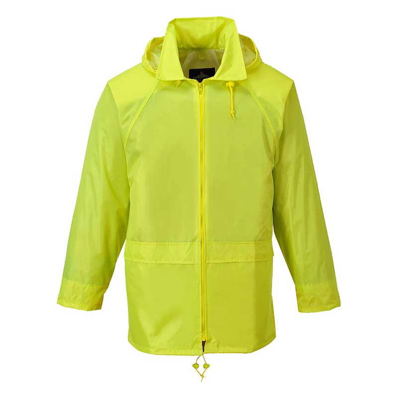 210g 100% Polyester Classic Rain Jacket - OJAA440-yellow