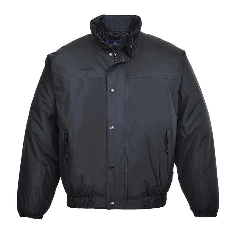 230gsm 'Falkirk' Waterproof Bomber Jacket - OJAA533-black