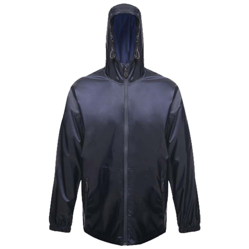 100% Polyester Waterproof Breathable Pro Packaway Jacket - RJAA248-navy