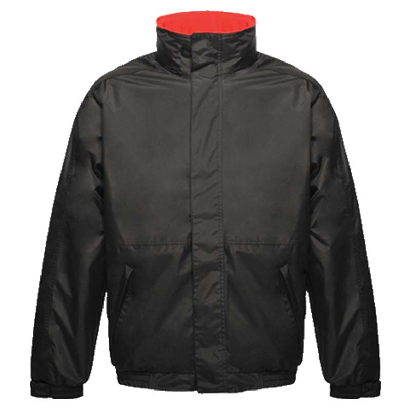 'Dover' Fleece-Lined Waterproof Jacket - RJAA297-black-red