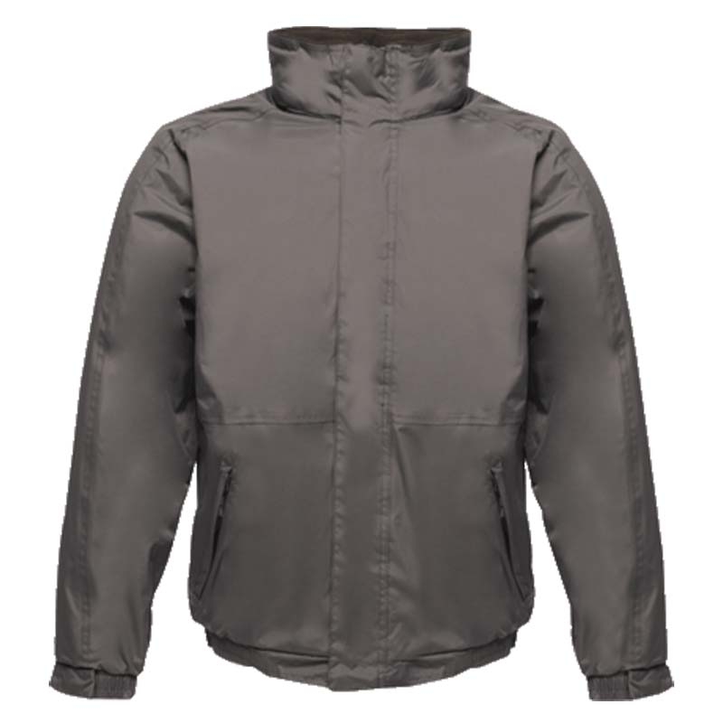 'Dover' Fleece-Lined Waterproof Jacket - RJAA297-grey-black