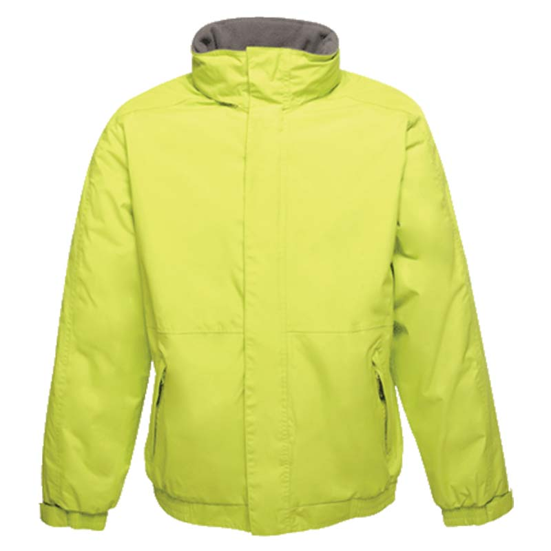'Dover' Fleece-Lined Waterproof Jacket - RJAA297-lime-grey