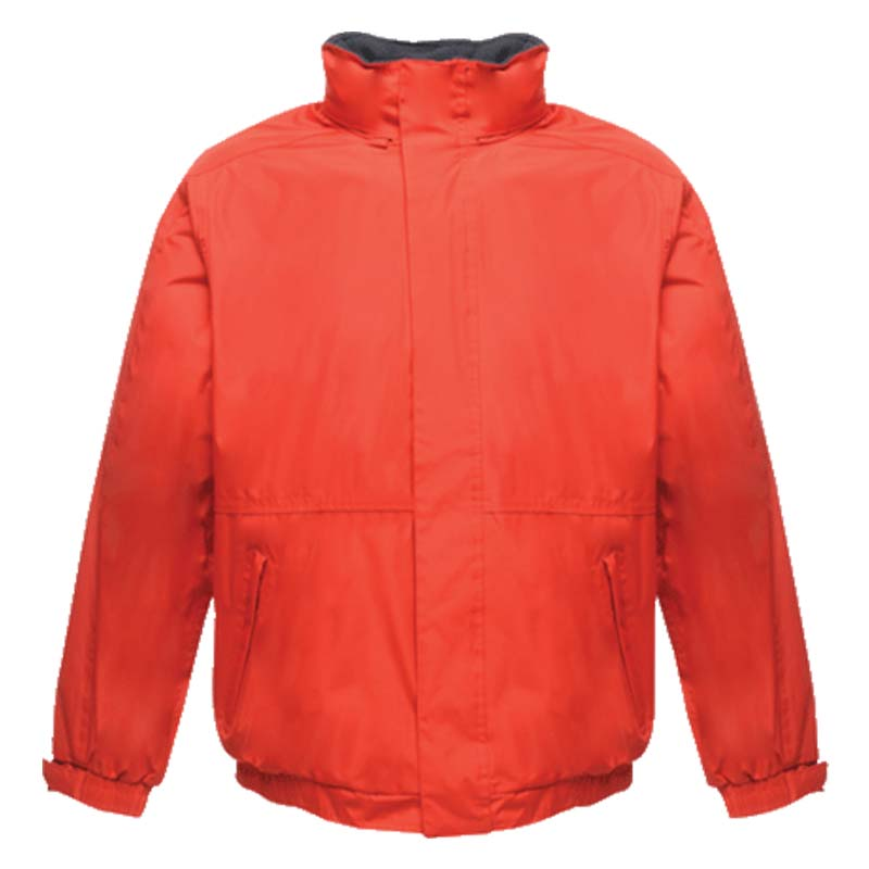 'Dover' Fleece-Lined Waterproof Jacket - RJAA297-red-navy