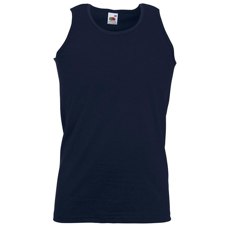 165gsm 100% Cotton, Belcoro® Yarn Athletic Vests - SAVA-dark-navy
