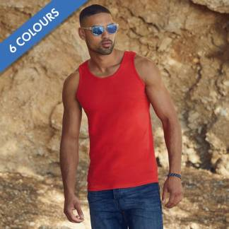 165gsm 100% Cotton, Belcoro Yarn Athletic Vests - SAVA