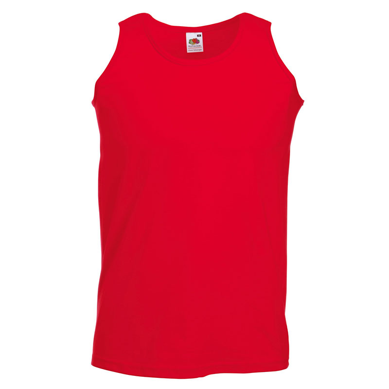 165gsm 100% Cotton, Belcoro® Yarn Athletic Vests - SAVA-red