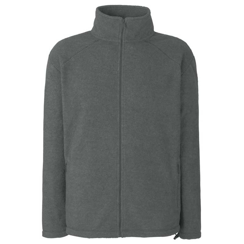 300g 100% Polyester Full Zip Fleece - SFFZA-Smoke