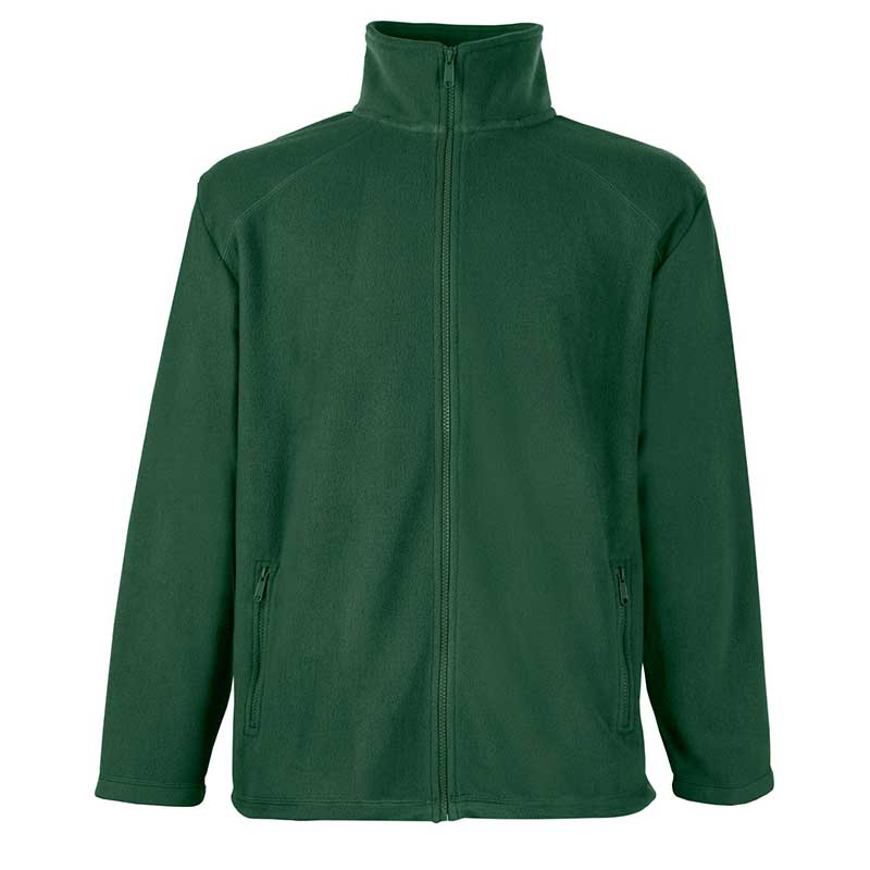 300g 100% Polyester Full Zip Fleece - SFFZA-bottle-green