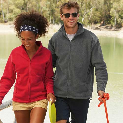 300g 100% Polyester Full Zip Fleece - SFFZA