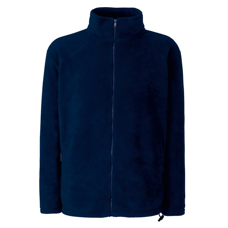 300g 100% Polyester Full Zip Fleece - SFFZA-navy