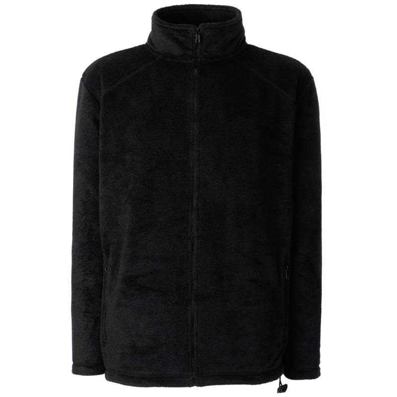 300g 100% Polyester Full Zip Fleece - SFFZA-plack