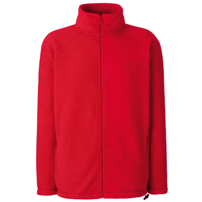300g 100% Polyester Full Zip Fleece - SFFZA-red