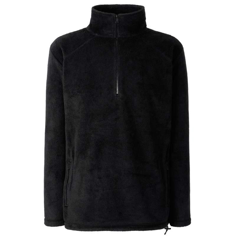 300g 100% Polyester Half Zip Fleece - SFHZA-black