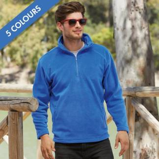 300g 100% Polyester Half Zip Fleece - SFHZA