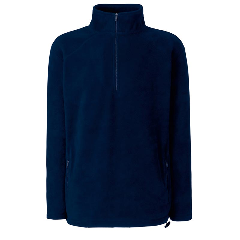 300g 100% Polyester Half Zip Fleece - SFHZA-navy