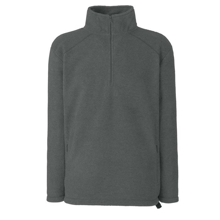 300g 100% Polyester Half Zip Fleece - SFHZA-smoke