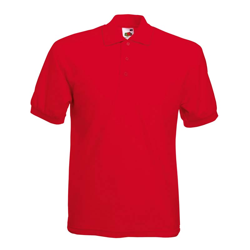 180gsm 65/35 PC Basic Polo - SPA-red