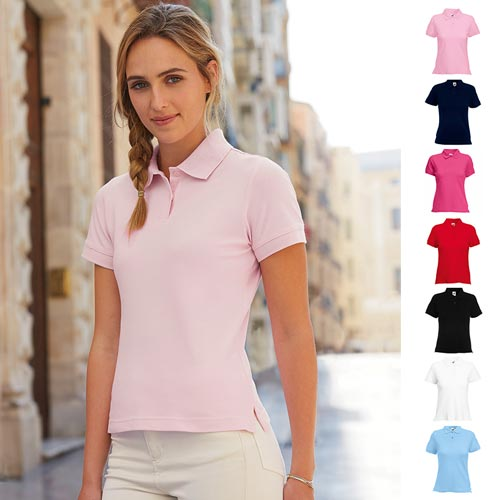 220gsm 97/3 CE Stretch-Cotton Lady-Fit Pique Polo Shirt - SPL