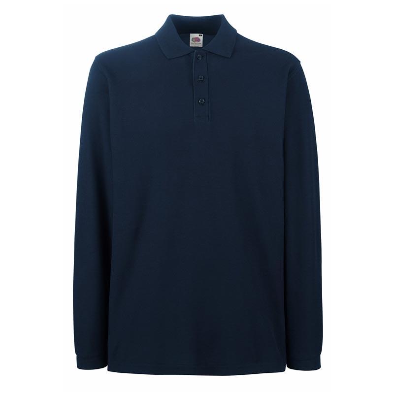 180gsm 100% Cotton Long Sleeve Premium Polo Shirt - SPLPA-dark-navy