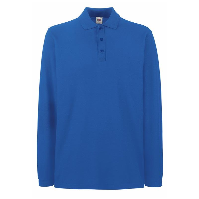 180gsm 100% Cotton Long Sleeve Premium Polo Shirt - SPLPA-royal