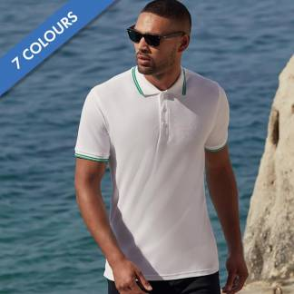 180gsm 100% Cotton Contrast Premium Tipped Polo Shirt - SPTA