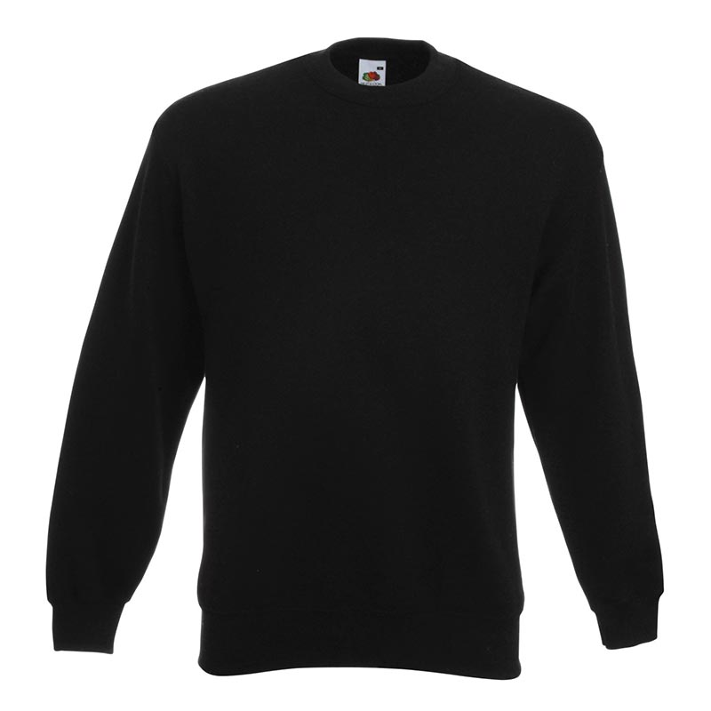 280gsm 80/20 CP Set-In Classic Crew Sweat Long Sleeve - SSDA-black