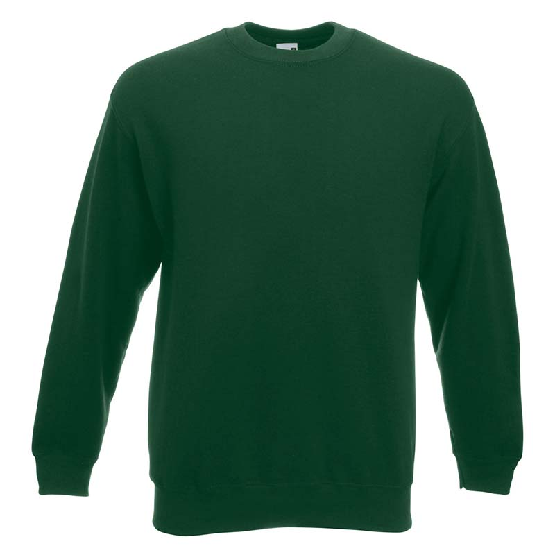 280gsm 80/20 CP Set-In Classic Crew Sweat Long Sleeve - SSDA-bottle-green