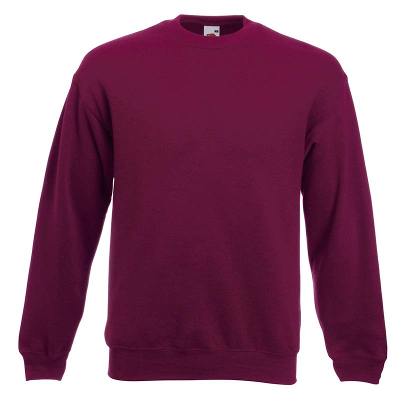 280gsm 80/20 CP Set-In Classic Crew Sweat Long Sleeve - SSDA-burgundy