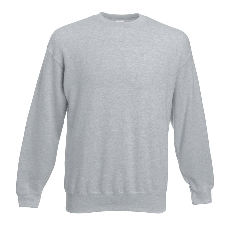280gsm 80/20 CP Set-In Classic Crew Sweat Long Sleeve - SSDA-heather