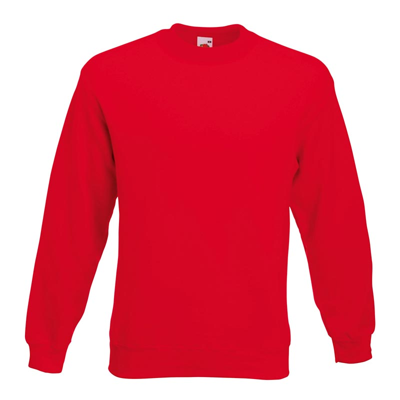 280gsm 80/20 CP Set-In Classic Crew Sweat Long Sleeve - SSDA-red