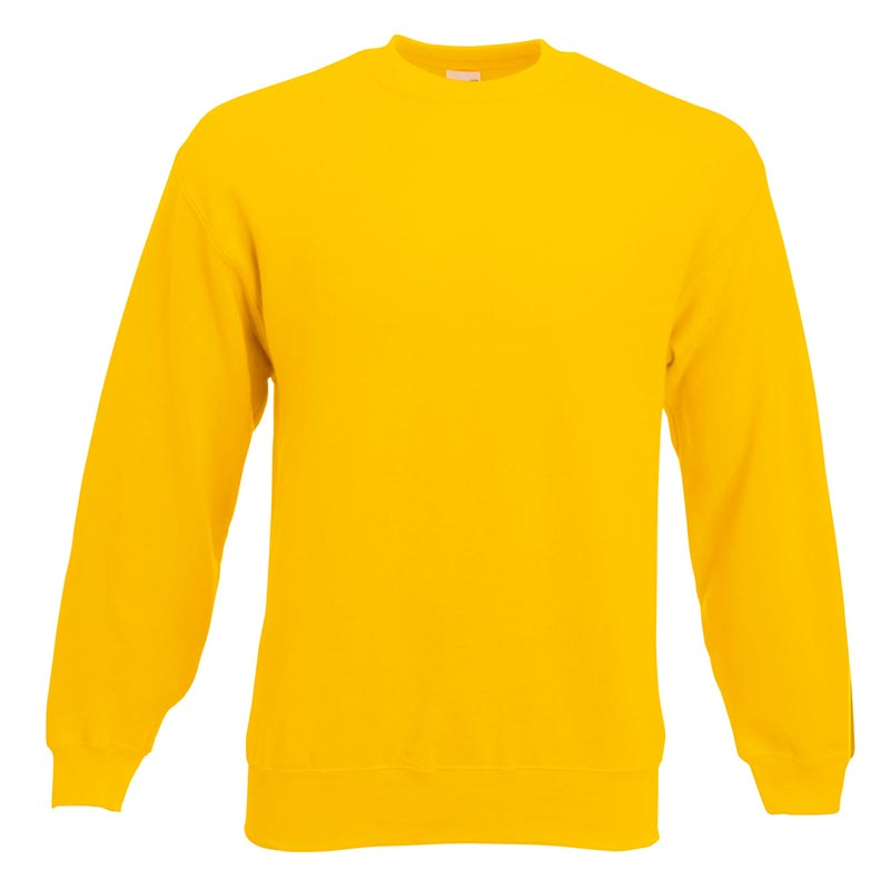 280gsm 80/20 CP Set-In Classic Crew Sweat Long Sleeve - SSDA-sunflower