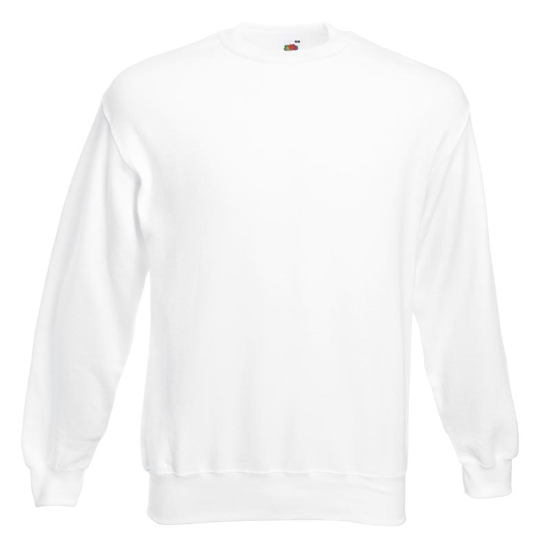 280gsm 80/20 CP Set-In Classic Crew Sweat Long Sleeve - SSDA-white