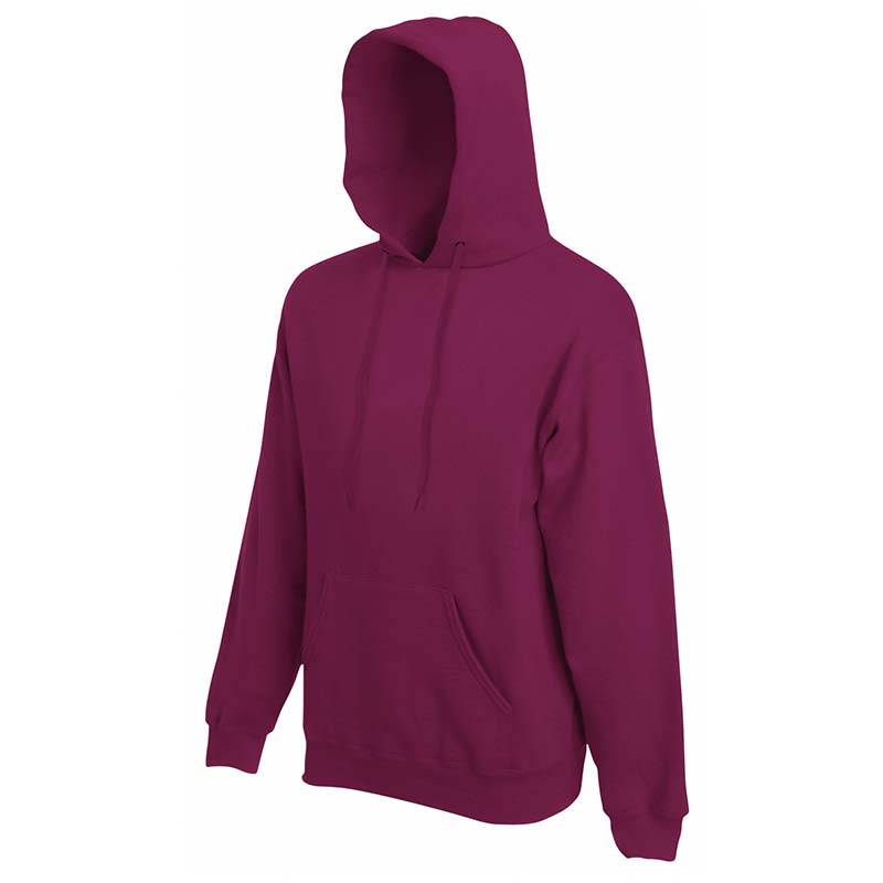 280g 80/20 CP Mens Classic Hooded Set-in Sweat - SSHA-burgundy