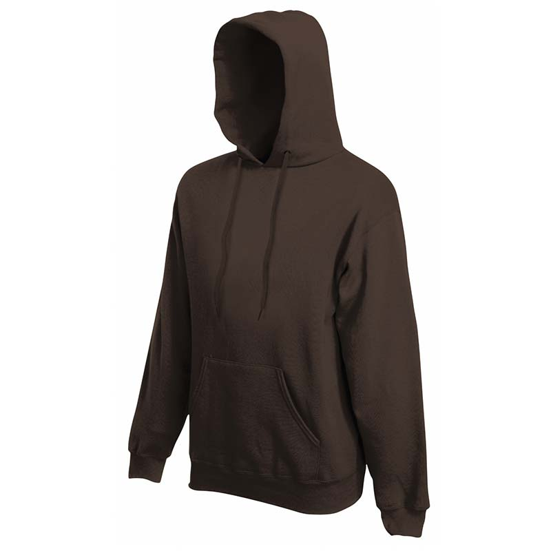 280g 80/20 CP Mens Classic Hooded Set-in Sweat - SSHA-chocoalte