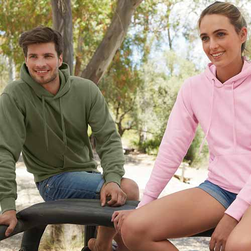 280g 80/20 CP Mens Classic Hooded Set-in Sweat - SSHA-model2