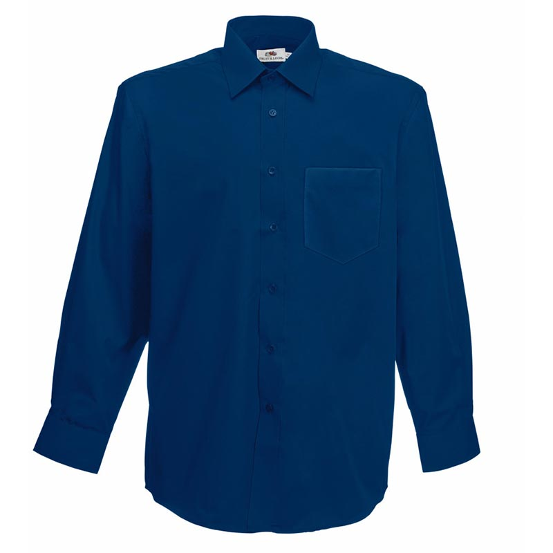 120g 55/45 CP Poplin Shirt Long Sleeve - SSHLPA-navy