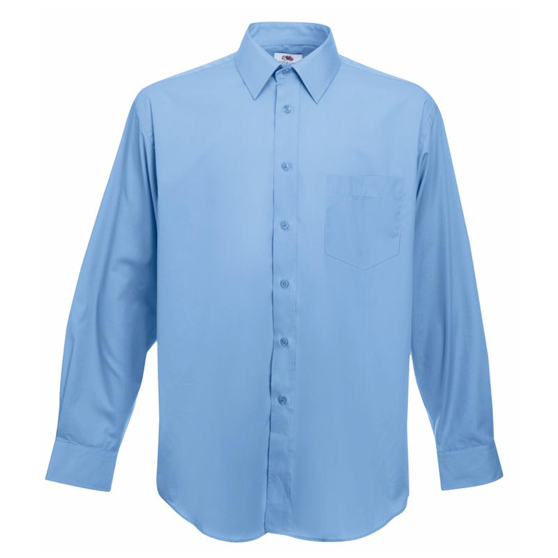 120g 55/45 CP Poplin Shirt Long Sleeve - SSHLPA-sky