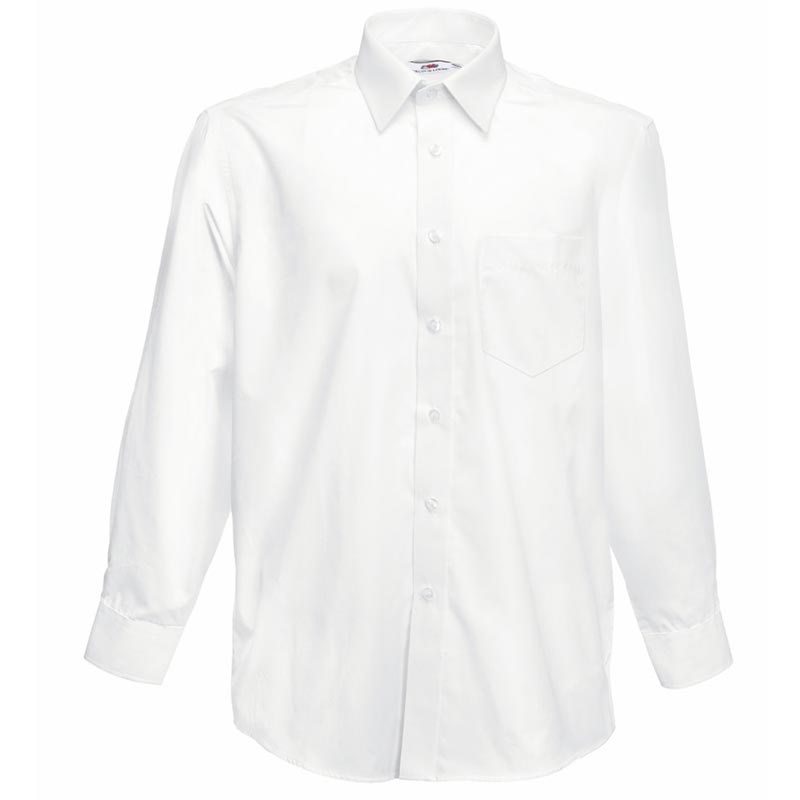 115g 55/45 CP Poplin Shirt Long Sleeve - SSHLPA-white